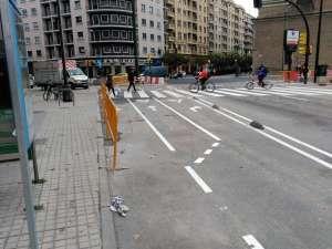 Carriles bici para giros