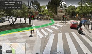 Carril bici hasta Parque Pignatelli