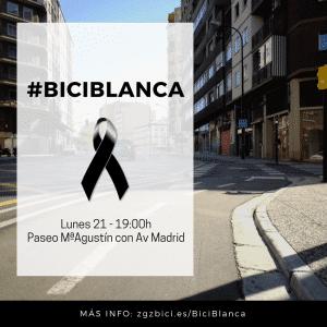 Bici blanca al ciclista fallecido en Paseo María Agustín